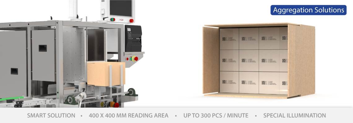 Semi-Automatic Case Packer Aggregation Stations
